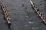 Pocock Rowing Foundation (right) defeats Lake Union Crew, Masters men, Rowing, race, Opening Day Regatta, Seattle, Washington,