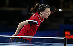 Glasgow 2014 Commonwealth Games<br /> Megan Phillips v Anniesa Benstrong<br /> Women's Table Tennis <br /> <br /> 29.07.14<br /> ©Steve Pope-SPORTINGWALES