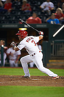 Springfield Cardinals outfielder Nick Martini (3) at bat during a game against the Frisco RoughRiders  on June 4, 2015 at Hammons Field in Springfield, Missouri.  Frisco defeated Springfield 8-7.  (Mike Janes/Four Seam Images)