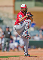 15 March 2016: Washington Nationals pitcher Gio Gonzalez on the mound during a Spring Training pre-season game against the Houston Astros at Osceola County Stadium in Kissimmee, Florida. The Nationals defeated the Astros 6-4 in Grapefruit League play. Mandatory Credit: Ed Wolfstein Photo *** RAW (NEF) Image File Available ***