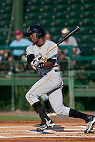 Starling Marte of the Bradenton Marauders during the game at Jackie Robinson Ballpark in Daytona Beach, Florida on August 2, 2010. Photo By Scott Jontes/Four Seam Images