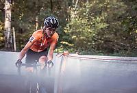 Annemarie Worst (NED) cornering. <br /> <br /> UEC CYCLO-CROSS EUROPEAN CHAMPIONSHIPS 2018<br /> 's-Hertogenbosch – The Netherlands<br /> Women's Elite Race