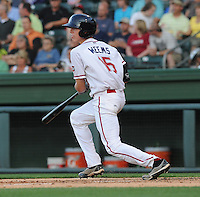 Catcher Jordan Weems (15) of the Greenville Drive in a game against the Lexington Legends on May 2, 2012, at Fluor Field at the West End in Greenville, South Carolina. Weems was a third-round pick by the Boston Red Sox in the 2011 First-Year Player Draft. Lexington won, 4-2. (Tom Priddy/Four Seam Images)