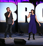 Anthony Rapp and Susan Egan on stage during Broadwaycon at New York Hilton Midtown on January 11, 2019 in New York City.