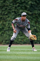 Quentin Holmes (70) of Monsignor McClancy Memorial High School in East Elmhurst, New York during the Under Armour All-American Game presented by Baseball Factory on July 23, 2016 at Wrigley Field in Chicago, Illinois.  (Mike Janes/Four Seam Images)