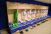 LE HAVRE, FRANCE - APRIL 13: USWNT locker room before a game between France and USWNT at Stade Oceane on April 13, 2021 in Le Havre, France.
