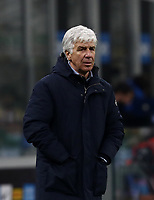 Calcio, Serie A: Inter Milano - Atalanta, Giuseppe Meazza (San Siro) stadium, in Milan, March 8, 2021.  <br /> Atalanta''s coach Gian Piero Gasperini looks on during the Italian Serie A football match between Inter and Atalanta at Giuseppe Meazza (San Siro) stadium, on  March 8, 2021.  <br /> UPDATE IMAGES PRESS/Isabella Bonotto