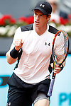 Andy Murray, Great Britain, during Madrid Open Tennis 2016 match.May, 5, 2016.(ALTERPHOTOS/Acero)