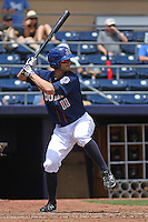 Durham Bulls outfielder Justin Ruggiano #11 at bat during a game versus the Louisville Bats at Durham Bulls Athletic Park in Durham, North Carolina on May 18, 2011. Durham defeated Louisville by the score of 7-4.    Robert Gurganus/Four Seam Images