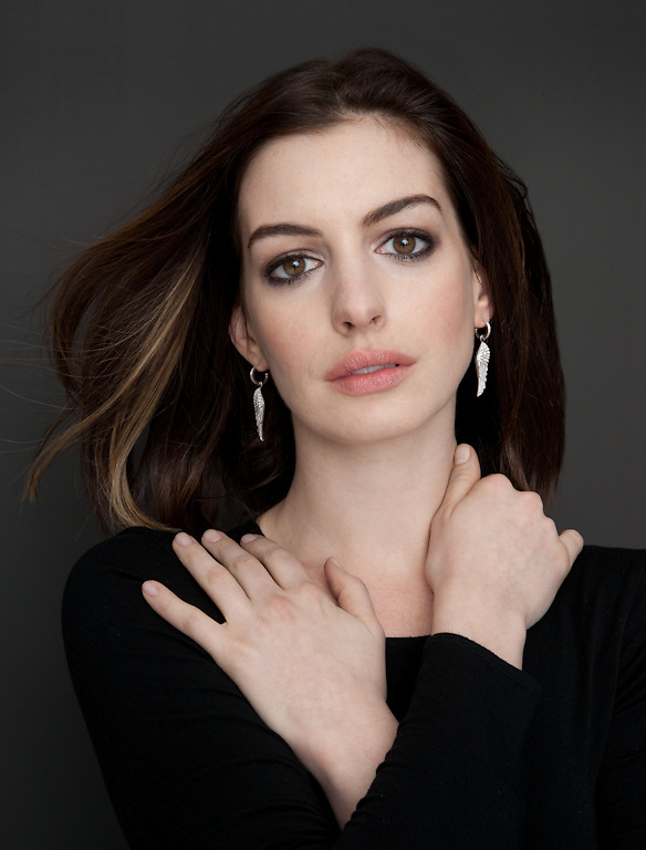 Actress Anne Hathaway photographed for The Creative Coalition in New York