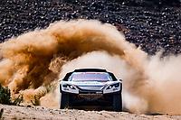 6th January 2021; Wadi Al Dawasir to Riyadh, Saudia Arabia; Dakar 2021 Rally, stage 4;  314 Despres Cyril (fra), Horn Mike (swi), Peugeot, PH Sport, Abu Dhabi Racing, Auto, action during the 4th stage of the Dakar 2021 between Wadi Al Dawasir and Riyadh, in Saudi Arabia on January 6, 2021