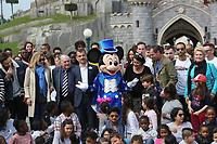 VALERIE TRIERWEILER, JULIEN LAUPRETRE, JEAN-PHILIPPE DOUX, VERONICA ANTONELLI - LE SECOURS POPULAIRE A DISNEYLAND PARIS, FRANCE, LE 04/04/2017.