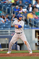 Midland RockHounds outfielder Kent Matthes (32) at bat during a game against the Tulsa Drillers on May 31, 2014 at ONEOK Field in Tulsa, Oklahoma.  Tulsa defeated Midland 5-3.  (Mike Janes/Four Seam Images)