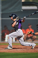 Colorado Rockies Max George (18) during an Instructional League game against the San Francisco Giants on October 8, 2016 at the Giants Baseball Complex in Scottsdale, Arizona.  (Mike Janes/Four Seam Images)