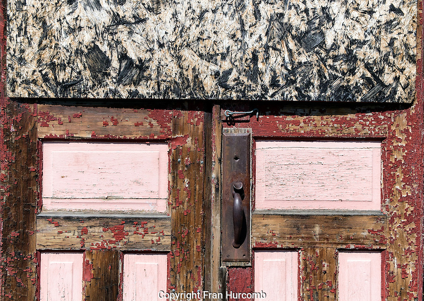 peeling paint on old building