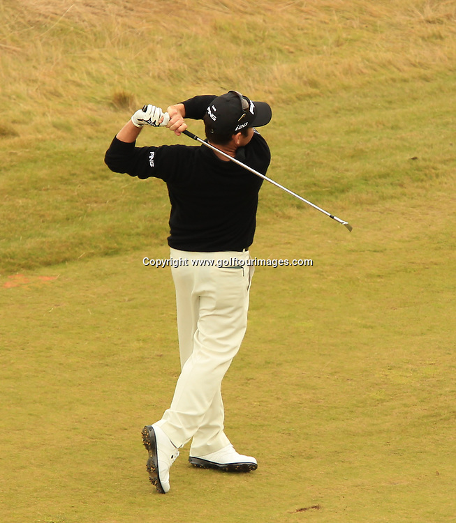 Louis Oosthuizen ( RSA) during the third round of the 2012 Aberdeen Asset Management Scottish Open being played over the links at Castle Stuart, Inverness, Scotland from 12th to 15th July 2012:  Stuart Adams www.golftourimages.com:14th July 2012