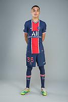 14th October 2020, Paris, France; Official League 1 player portrait for Paris Saint Germain;  RUIZ Kyz