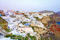 Sunset view of Oia, Oia, Santorini, Greece