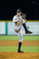 Danville Braves relief pitcher Taylor Hyssong (20) in action against the Burlington Royals at Burlington Athletic Stadium on August 15, 2017 in Burlington, North Carolina.  The Royals defeated the Braves 6-2.  (Brian Westerholt/Four Seam Images)