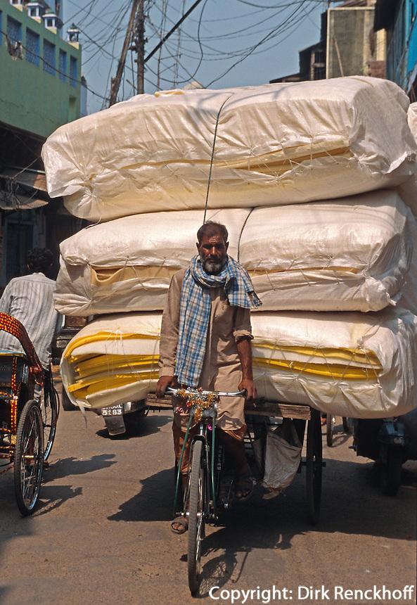 Indien, Uttar Pradesh, Agra, Strassenszene, Lastrad