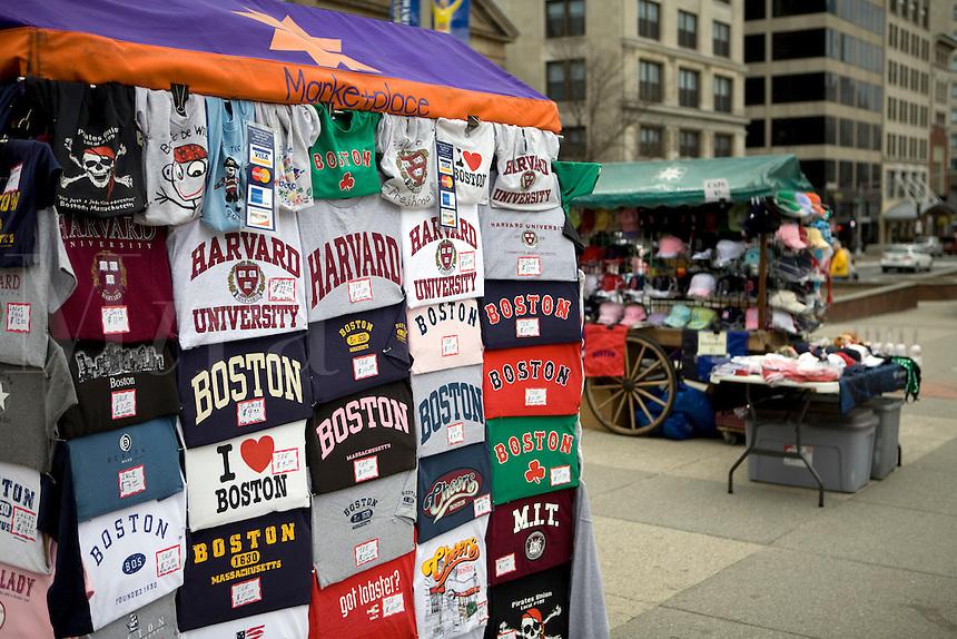 T-Shirt vendor Boston Common