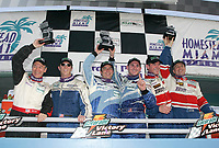 GT class podium at the Grand Prix od Miami at Homestead-Miami Speedway on Saturday, March 5, 2005.(Grand American Road Racing Photo by Brian Cleary)