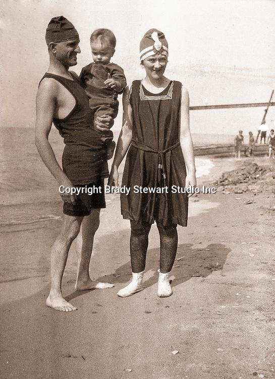 North East PA:  Brady Sr., Sarah and Brady Jr. on the Lake Erie Shore