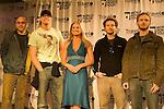 L to R:Actors Willie Garson, Matthew Lillard, Danny Masterson & Chris Masterson pose on the red carpet with WPT hostess,  Courtney Friel.
