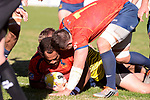 Spain's Carlos Gavidi during Rugby Europe Championship 2017 match between Spain and Belgium in Madrid. March 18, 2017. (ALTERPHOTOS/Borja B.Hojas)
