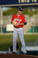 Fort Myers Miracle pitcher Kohl Stewart (2) gets ready to deliver a pitch during a game against the Tampa Yankees on April 15, 2015 at Hammond Stadium in Fort Myers, Florida.  Tampa defeated Fort Myers 3-1 in eleven innings.  (Mike Janes/Four Seam Images)
