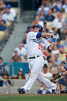 Russell Martin of the Los Angeles Dodgers during a 2007 MLB season game at Dodger Stadium in Los Angeles, California. (Larry Goren/Four Seam Images)