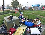Walmart, Chico<br /> The Walmart parking lot in Chico and a large empty lot adjacent became a temporary shelter for those who could not find space in other shelters, or chose to sleep outdoors in tents rather than crowded emergency shelters with hundreds of other people. The Walmart parking lot also accommodated people with recreational vehicles.<br /> <br /> In the first few days after the fire, donations of food, clothing and camping items poured in. Numerous volunteers offered medical assistance, brought food and bottled water or cooked food on site. Some helped direct people to social services agencies. Others simply provided a welcome ear to listen and a hand to hold.