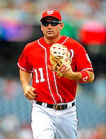 24 May 2009: Washington Nationals' third baseman Ryan Zimmerman in action against the Baltimore Orioles at Nationals Park in Washington, DC. The Nationals rallied to defeat the Orioles 8-5 and salvage one win of their interleague series. Mandatory Credit: Ed Wolfstein Photo