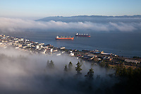 Fog Surrounding Astoria and Columbia River, Oregon, USA.