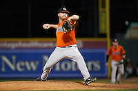 Bowie Baysox relief pitcher Jason Stoffel (26) during a game against the Erie SeaWolves on May 12, 2016 at Jerry Uht Park in Erie, Pennsylvania.  Bowie defeated Erie 6-5.  (Mike Janes/Four Seam Images)
