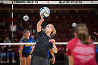 STANFORD, CA - December 1, 2017: Taylor Formico at Maples Pavilion. The Stanford Cardinal defeated the CSU Bakersfield Roadrunners 3-0 in the first round of the NCAA tournament.