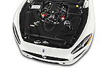 Car Stock 2017 Maserati GranTurismo Convertible Sport Door convertible Engine high angle detail view