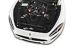 Car Stock 2017 Maserati GranTurismo Convertible Sport Door convertible Engine high angle detail view
