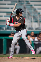 Lake Elsinore Storm third baseman Hudson Potts (15) at bat during a California League game against the Modesto Nuts at John Thurman Field on May 13, 2018 in Modesto, California. Lake Elsinore defeated Modesto 4-3. (Zachary Lucy/Four Seam Images)