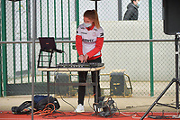 Zulte Waregem's DJ pictured during a female soccer game between SV Zulte - Waregem and White Star Woluwe on the 9th matchday of the 2020 - 2021 season of Belgian Scooore Women s SuperLeague , saturday 12 th of December 2020  in Waregem , Belgium . PHOTO SPORTPIX.BE | SPP | DIRK VUYLSTEKE