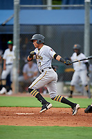 GCL Pirates Carlos Canache (13) bats during a Gulf Coast League game against the GCL Rays on August 7, 2019 at Charlotte Sports Park in Port Charlotte, Florida.  GCL Rays defeated the GCL Pirates 5-3 in the second game of a doubleheader.  (Mike Janes/Four Seam Images)