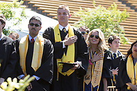 BERKELEY, CA - May 13, 2017: Class of 2017 Commencement. Justin Murphy and Madeleine Kerr