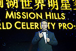 Ken Chu gives a speech during the Opening Ceremony of the the World Celebrity Pro-Am 2016 Mission Hills China Golf Tournament on 20 October 2016, in Haikou, China. Photo by Weixiang Lim / Power Sport Images