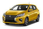 2020 Mitsubishi Space-Star Diamond-Edition 5 Door Hatchback Angular Front automotive stock photos of front three quarter view