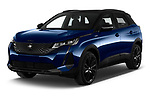 2021 Peugeot 3008 GT-Pack 5 Door SUV Angular Front automotive stock photos of front three quarter view