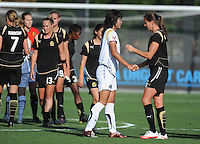 Han Duan, Brandi Chastain. The Los Angeles Sol defeated FC Gold Pride, 2-0, at Buck Shaw Stadium in Santa Clara, CA on May 24, 2009.