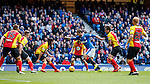 Niko Kranjcar takes on the massed ranks of the Partick Thistle defence and scores
