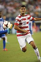 Chris Wondolowski #19 of the USMNT in action against Honduras on July 24, 2013 at Dallas Cowboys Stadium in Arlington, TX. USMNT won 3-1.