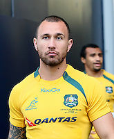 Wallabie's Quade Cooper at the captains run prior to the Rugby Championship, Bledisloe Cup test match between New Zealand and Australia, Forsyth Barr Stadium, Dunedin, New Zealand, Friday, October 18, 2013. Photo: Dianne Manson / photosport.co.nz