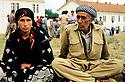 France 1989.Au camp militaire de Lastic, l'arrivee d'immigrants kurdes d'Irak.France 1989.In the military camp of Lastic, Iraqi Kurdish immigrants